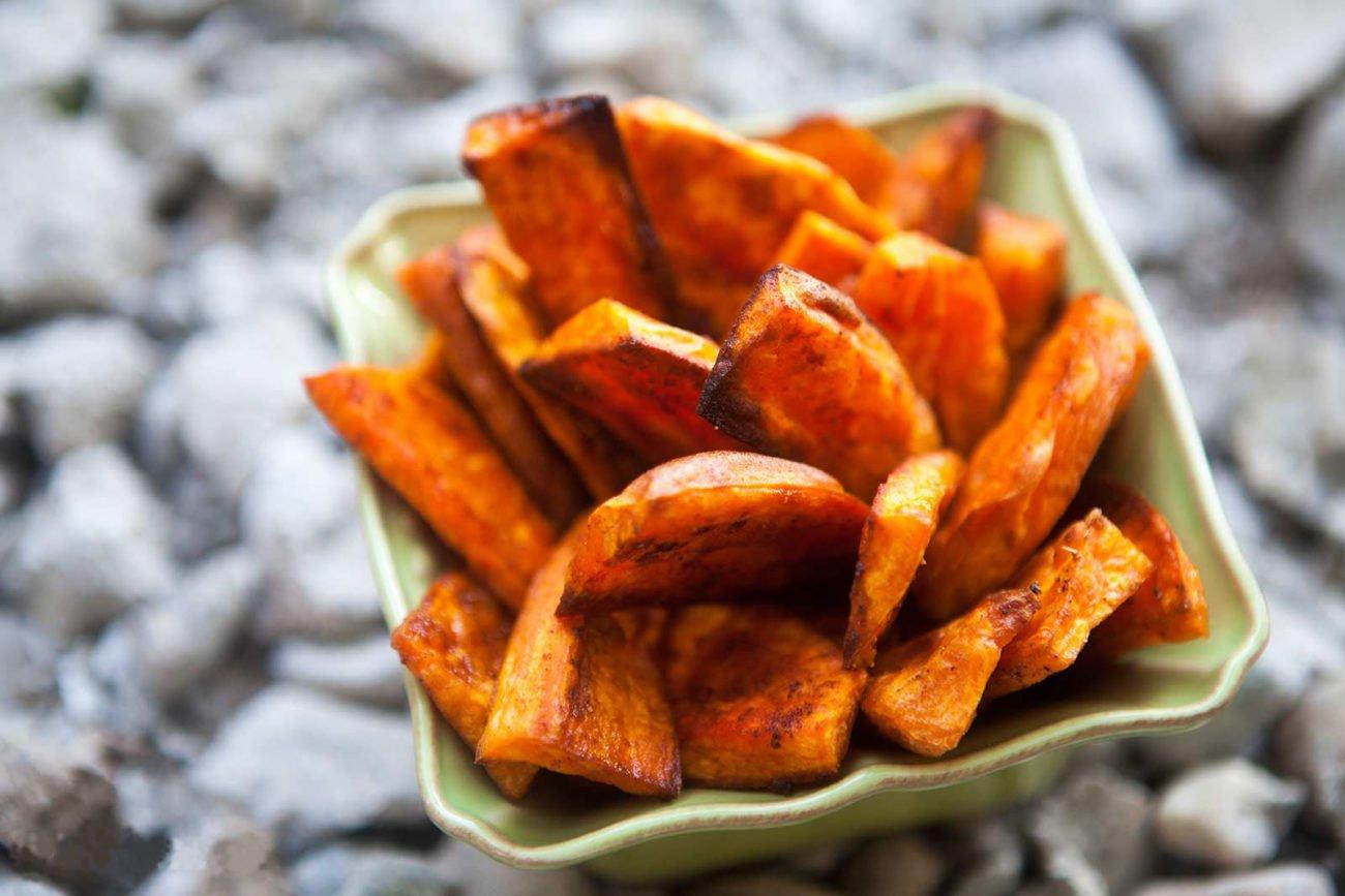 Запеченный батат (сладкий картофель)