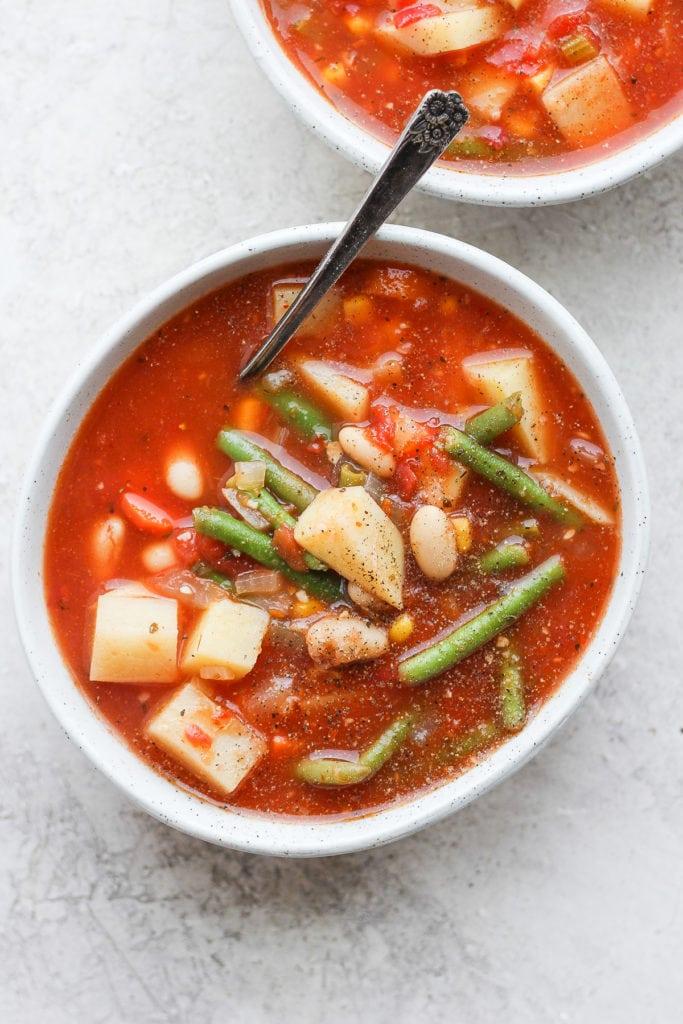 Сытный овощной суп