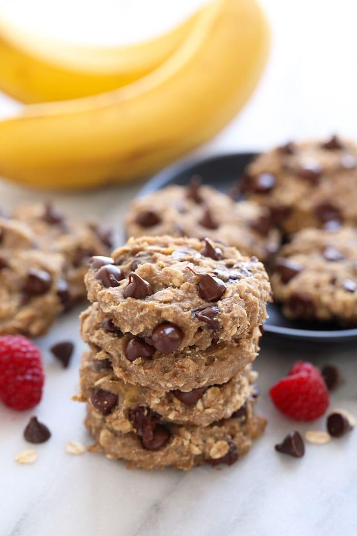 Бананово-овсяное печенье